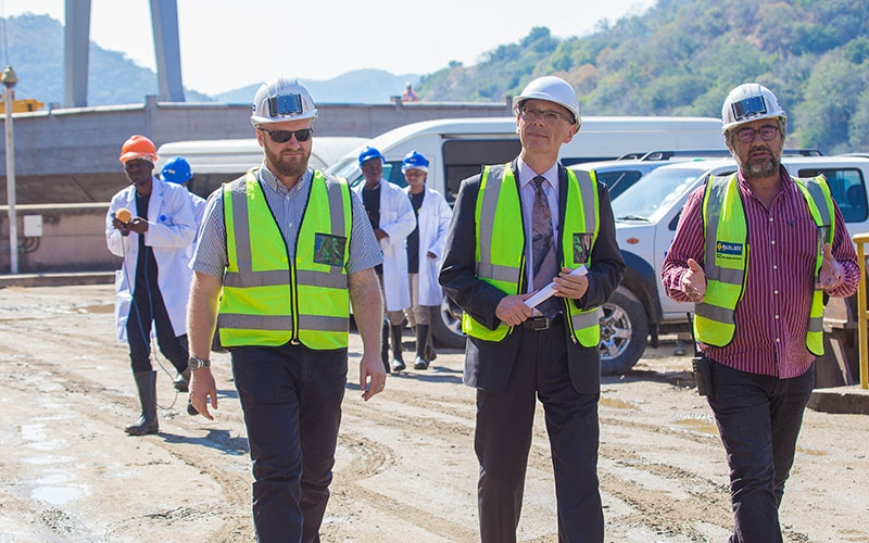 E.U Degation Visit to the Site