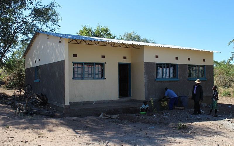 The newly constructed teacher's house at Hamtuba Primary School