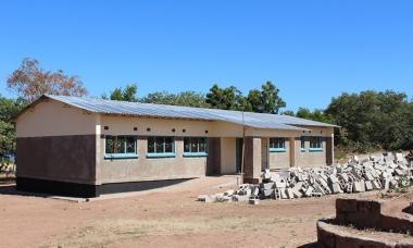 The newly constructed 1x2 classroom block at Hamatuba Primary School